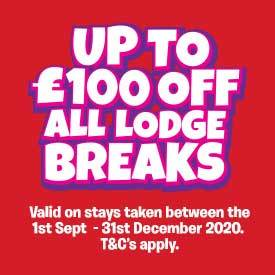 Up to £100 off Lodge breaks between 1st September - 31st December