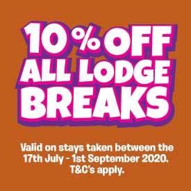 10% off Summer Lodge breaks