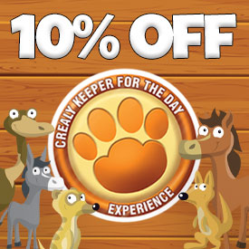 10% off Animal Keeper for the day Experience