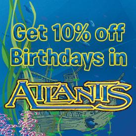 10% off Atlantis Birthday Parties
