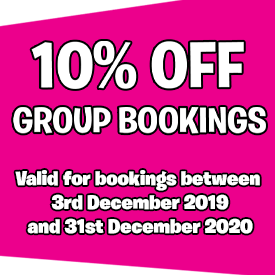 10% off Group Bookings