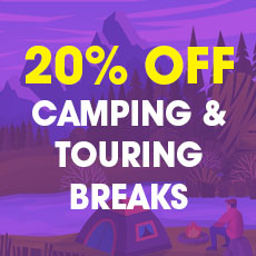 20% OFF all 2021 Camping & Touring breaks