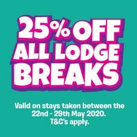 25% off Whitsun Lodge Breaks