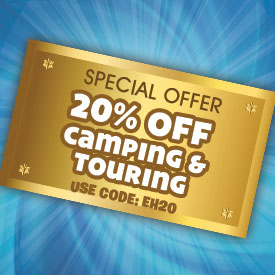20% off Camping & Touring this Easter