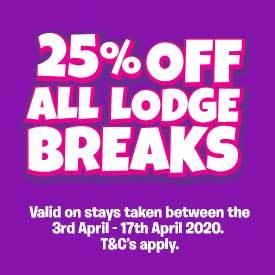 25% off Easter Lodge Breaks
