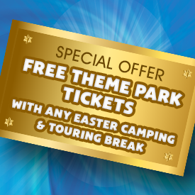 FREE Theme Park Tickets with Easter Camping & Touring Breaks