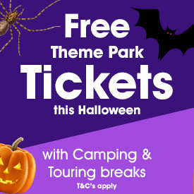 Free Theme Park tickets on Camping & Touring Breaks this October Half Term