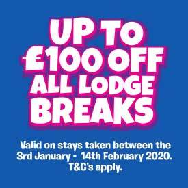 Up to £100 off Lodge Breaks between 3rd January - 14th February