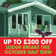 Up to £300 OFF Spook-Fest Lodge breaks!
