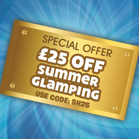 £25 off Summer Glamping