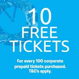 10 free tickets for every 100 corporate pre-paid tickets purchased