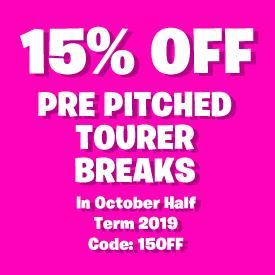 15% off Pre Pitched Tourer Breaks in October Half Term