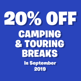 20% off Camping and Touring breaks in September