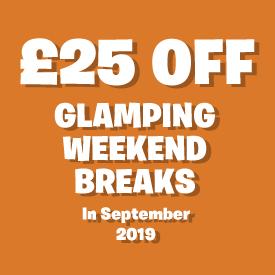 £25 off Glamping Breaks in September
