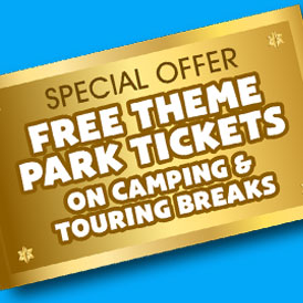 Free Theme Park Tickets on Camping and Touring Breaks