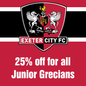 Discount for Exeter City season ticket holders