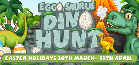 Egg-o-Saurus Dino Hunt at Crealy this Easter