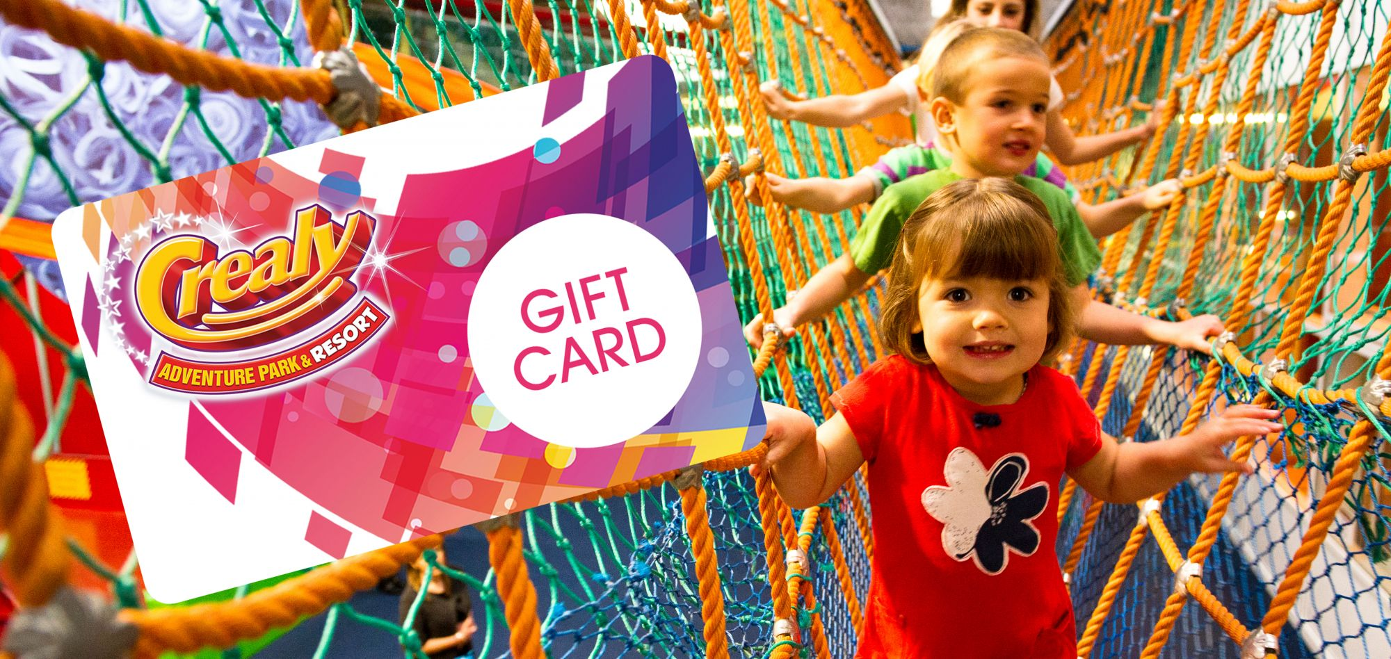 Purchase a Gift Card for friends and family at Crealy Adventure Park & Resort