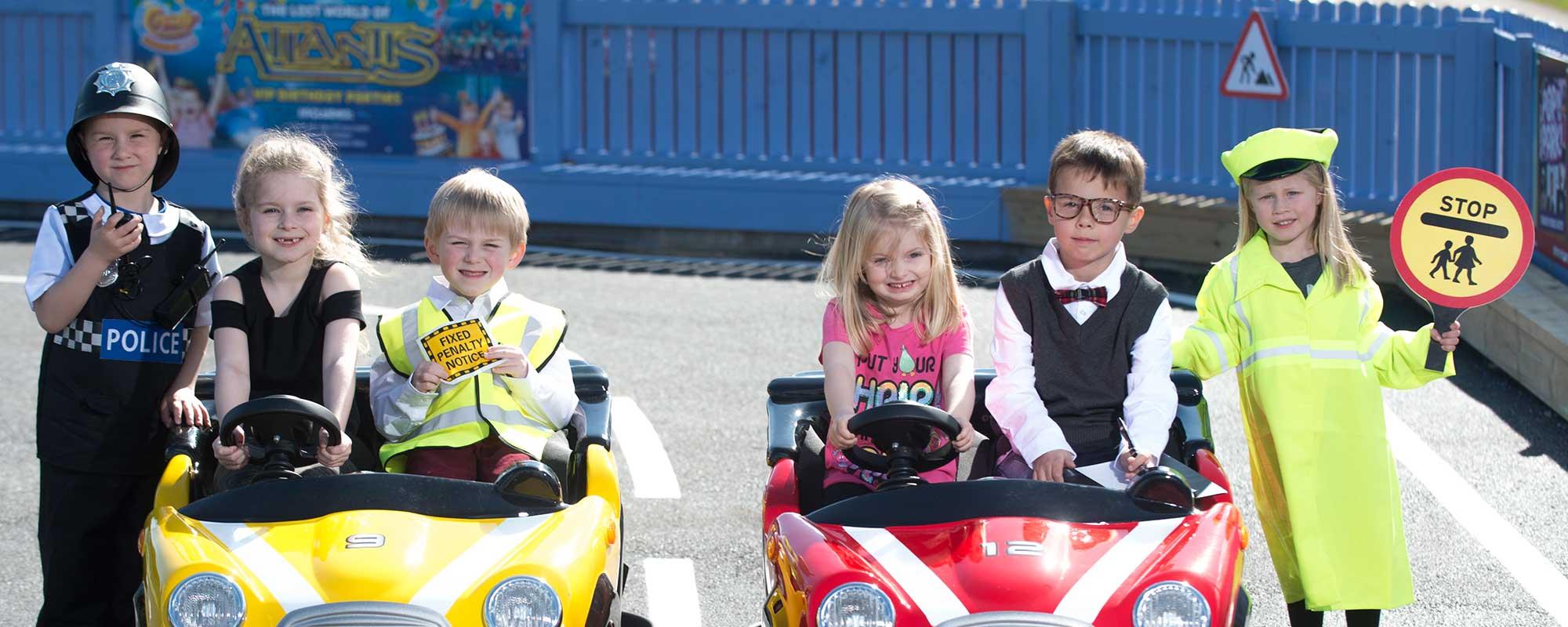 Grand Prix Driving School >> Junior Driving School Rides Attractions Crealy Theme Park Resort