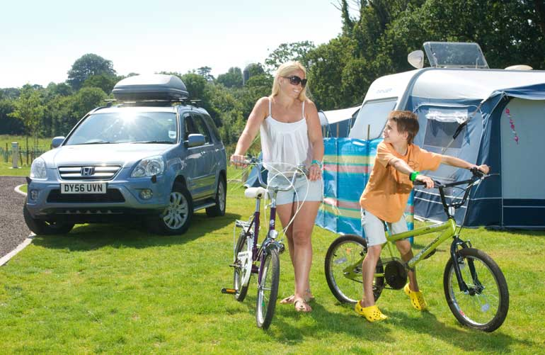 Large Camping Pitches in Devon